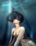 Mermaid in blue lights by Daria91