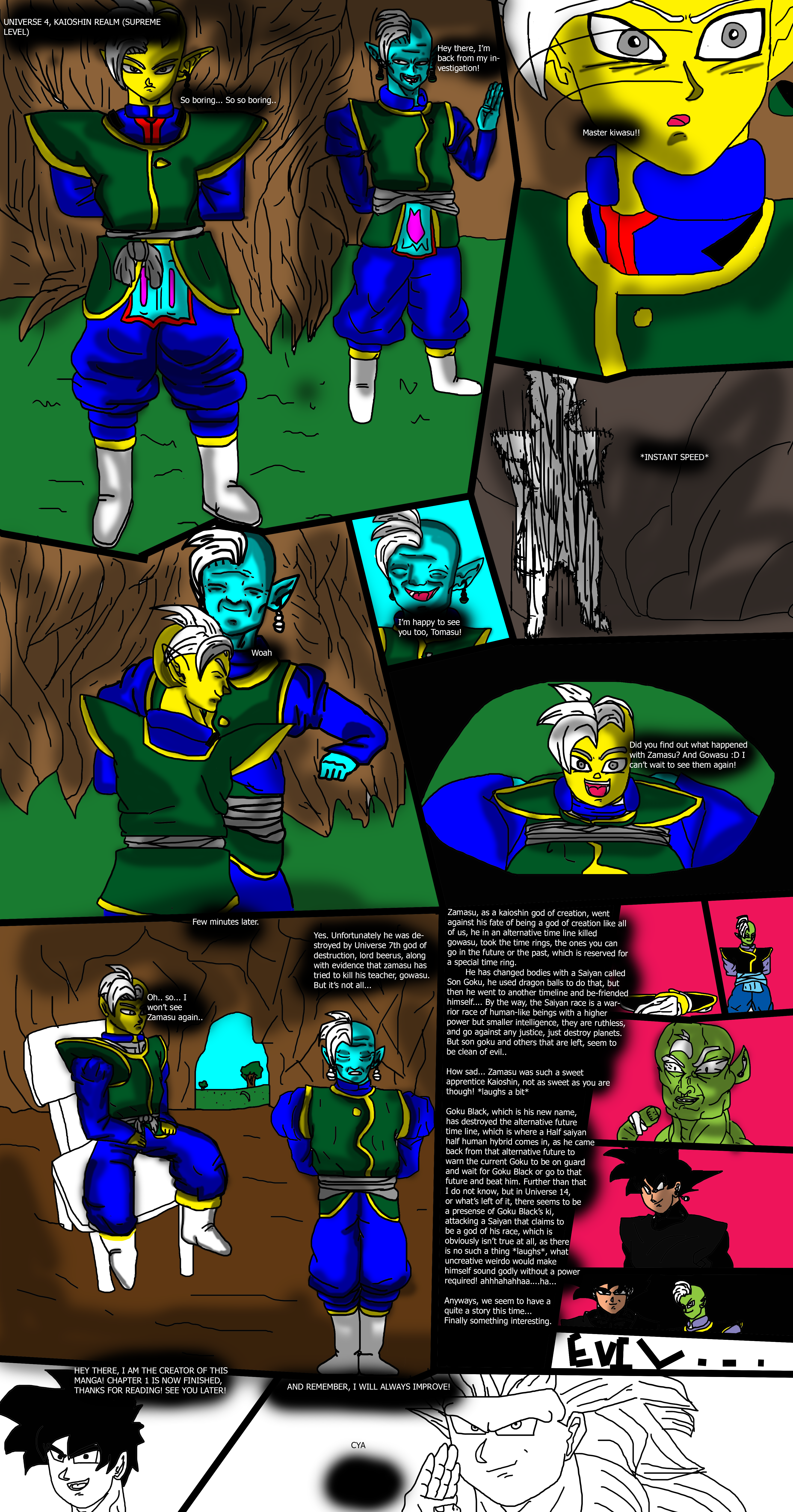Dragon ball multiversal page 15 Chapter 1 FINISHED by ClearlyAnArtist
