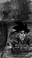 Depressed Goku by ClearlyAnArtist