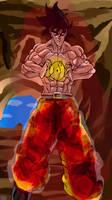 Evil Goku Charging a Blast by ClearlyAnArtist