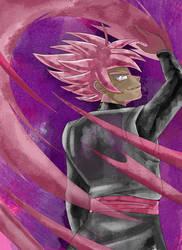 Goku Black SSR collab Version 1 by ClearlyAnArtist