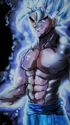 Powered Up Ultra Instinct by ClearlyAnArtist