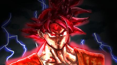 Super Saiyan GOD Goku by ClearlyAnArtist