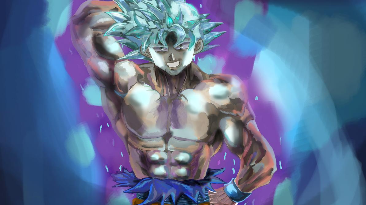 SSB Infused UIM Goku by ClearlyAnArtist