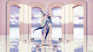 Angel's dance in the sanctum