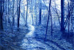 Landscape in blue by untuox