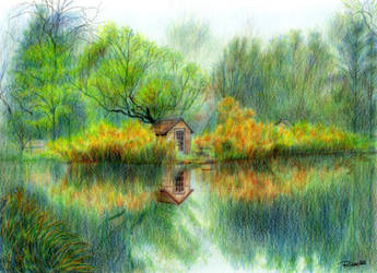 A house on the lake by untuox