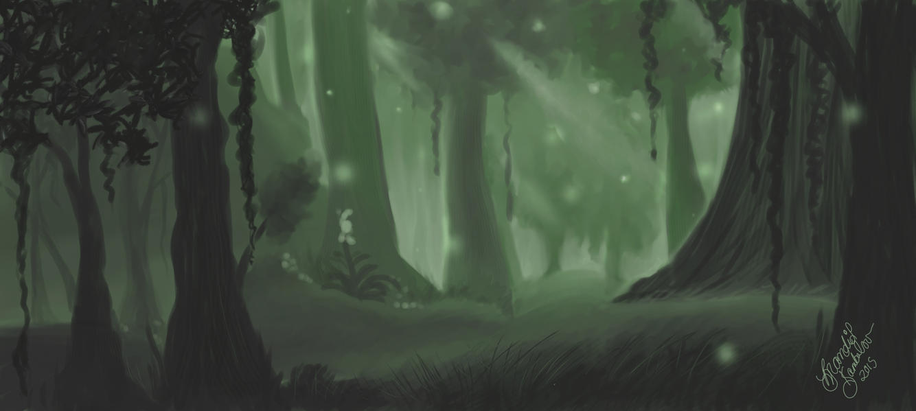 Forest Inspired by Feralas by ArtistBrandi