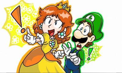Daisy and Luigi  by SmallDarkBow