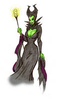 Maleficent - Coloured by s-carter