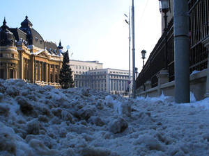 Sidewalk Snowing