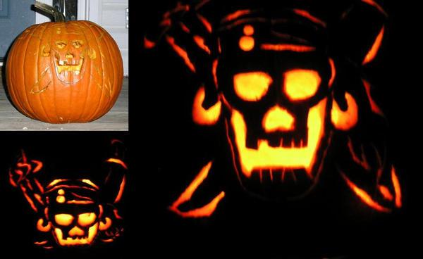 Pirate Pumpkin Carving by Aureawolf