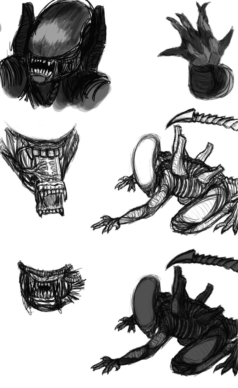 Xenomorphs by Aureawolf