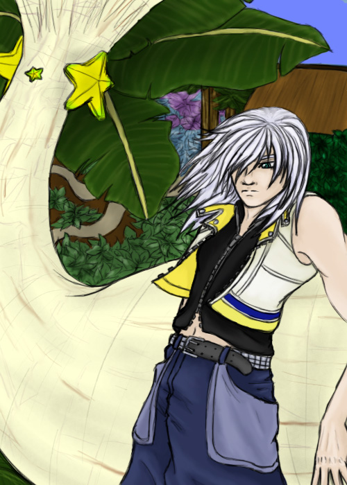 Riku and the paopu tree by Aureawolf