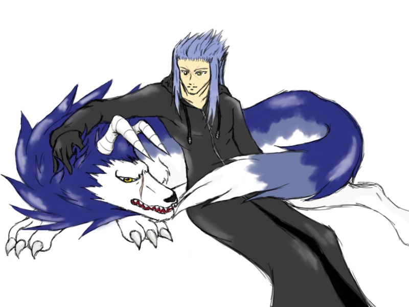 Saix and his new friend by Aureawolf