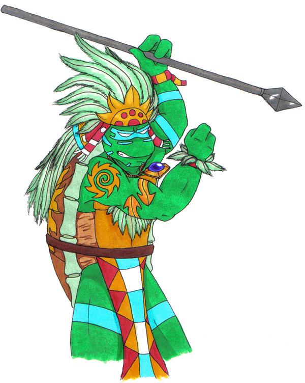 Quetzal Warrior Leo as the Azte...