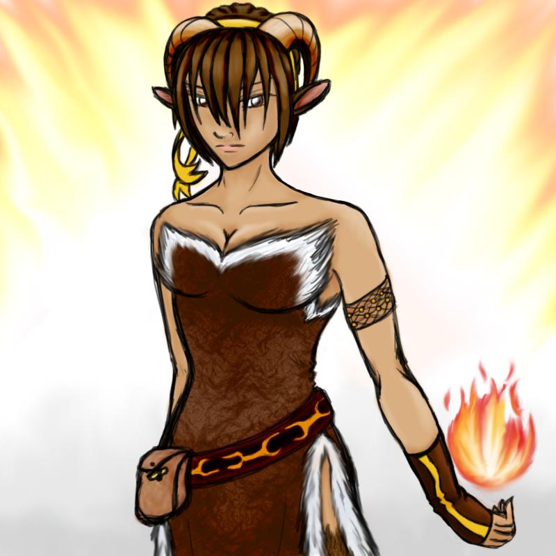 Senia the mage by Aureawolf