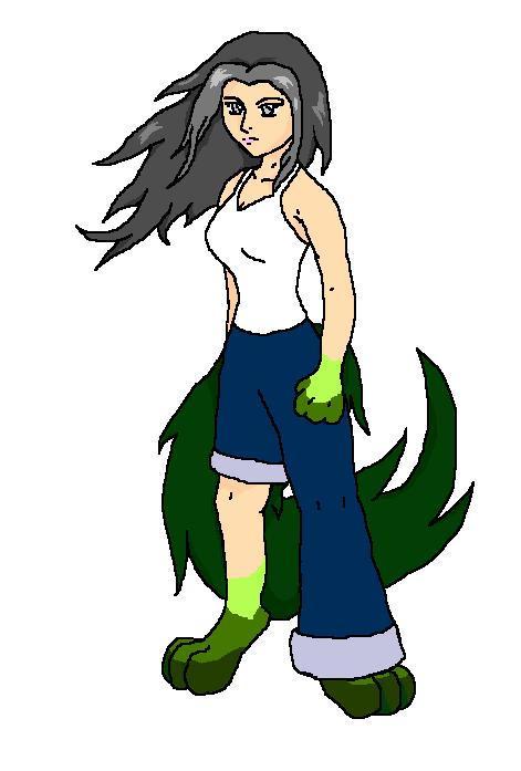 Emerald Wolf by Aureawolf