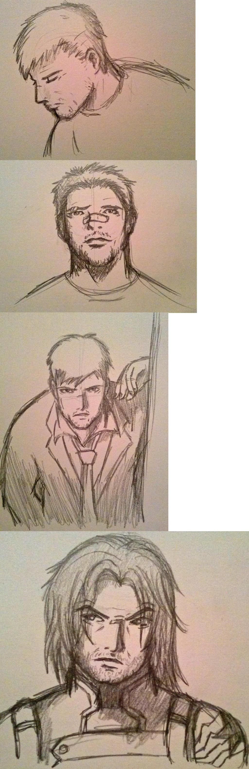 Marvel Sketches by Aureawolf