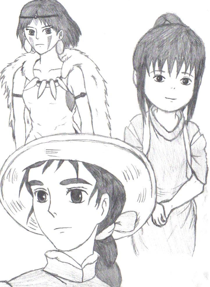 The women of Miyazaki by Aureawolf