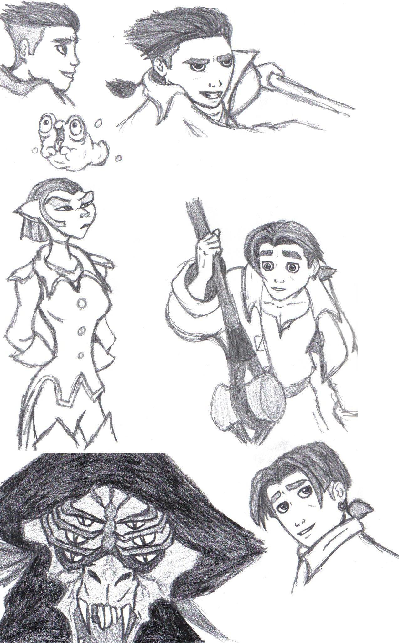 Treasure Planet sketches by Aureawolf