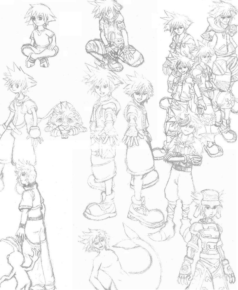 Too Many Soras by Aureawolf