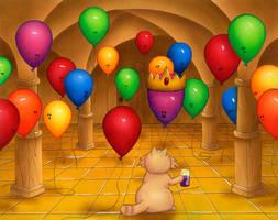 Sneak Peek 2-The Balloon King by spiraln