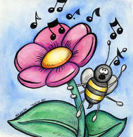 Singing Bee by spiraln