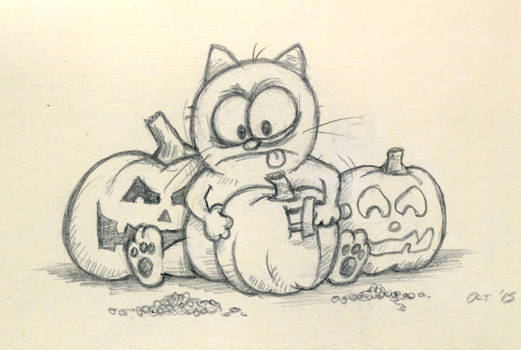 Sketch for Halloween Story by spiraln