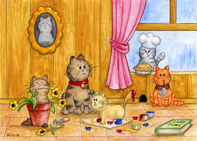 Mom's Day Cats by spiraln