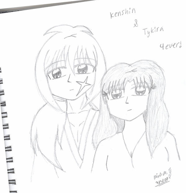 Fanart: Kenshin and Tykira by LadyKenshin
