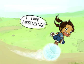 Korra Learns Airbending by per-chance