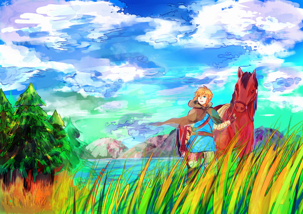 Hyrule Fields by yellowhima