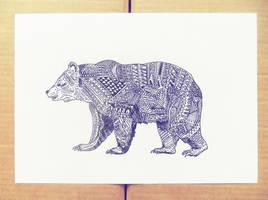 Hipster filter bear