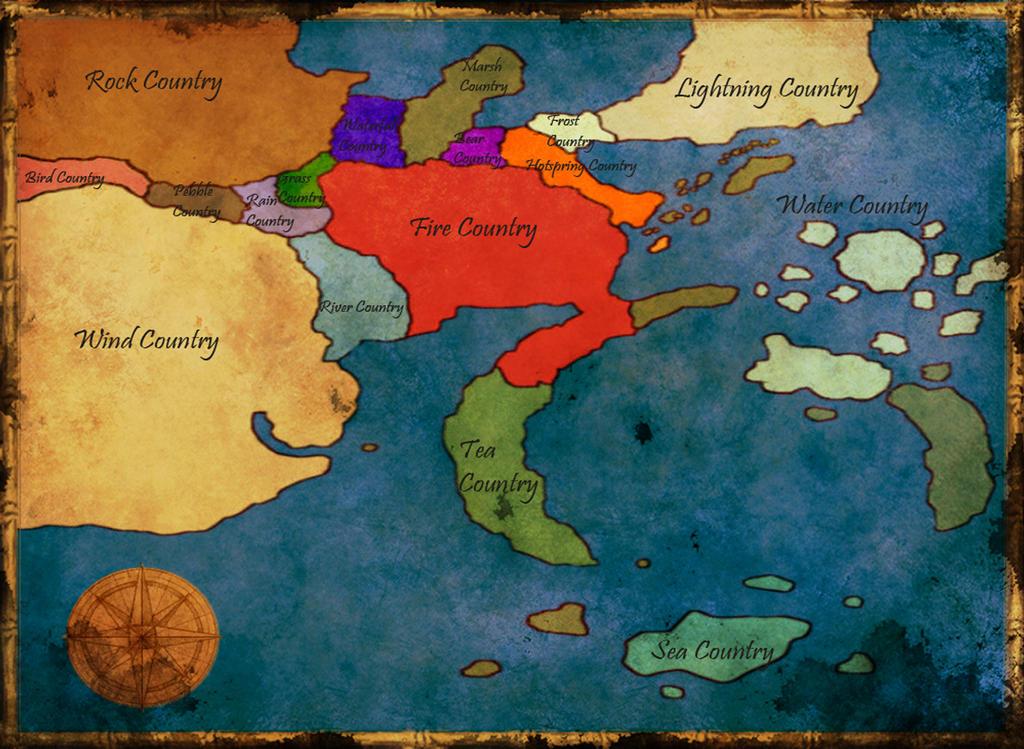 Naruto Saigen   World Map By Lacarix ...