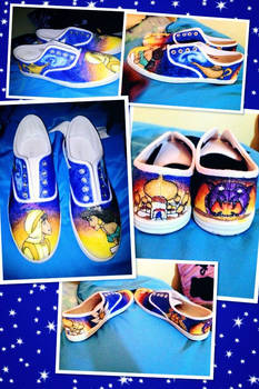 Aladdin and Jasmine Custom Shoes