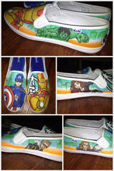 Avengers Custom Shoes