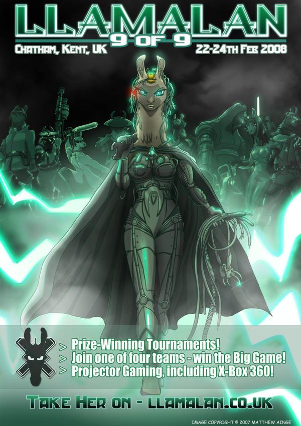 LlamaLAN IX: Official Poster