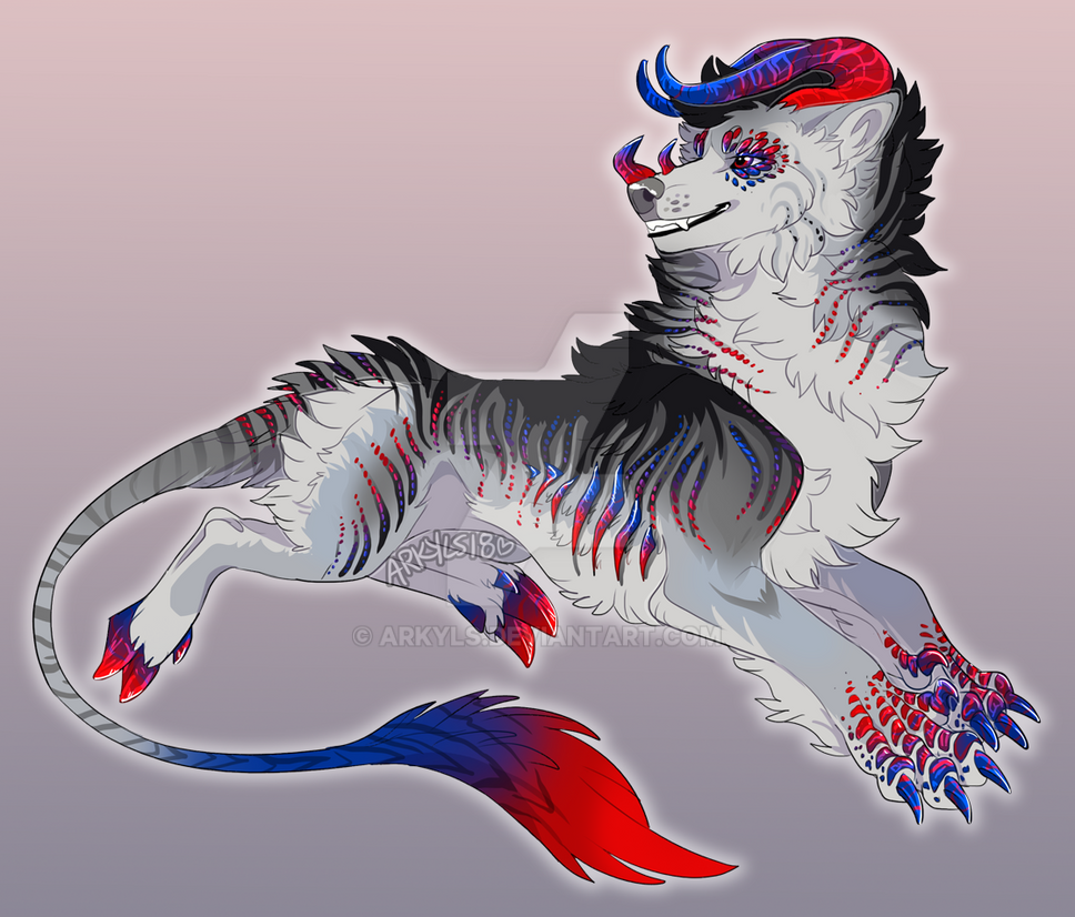 comm // red and blue crystal by Arkyls