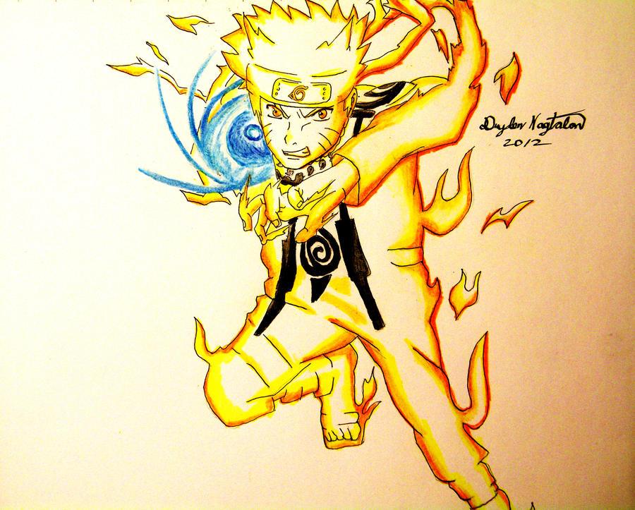 Naruto Kyubi Chakra Mode by SuperAsian143 on DeviantArt