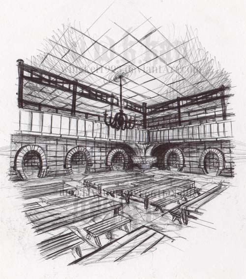Mess Hall sketch by wingkei1993