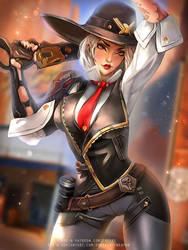 Ashe Overwatch :nsfw optional: by Emerald--Weapon