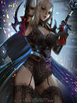 Aranea Highwind Lace ver by Emerald--Weapon