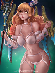 Materia (Dissidia) Harness lingerie ver by Emerald--Weapon