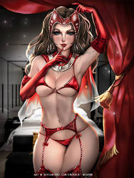 Scarlet Witch Lingerie ver by Emerald--Weapon