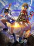 Ling Xiaoyu x Rikku by Emerald--Weapon