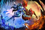 Shiva X Ifreeta by Emerald--Weapon