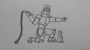 Simon Belmont and a cat :v