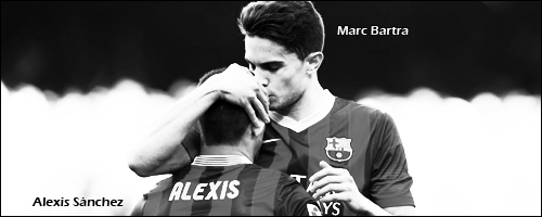 Alexis Sanchez and Marc Bartra by DJalc98Star