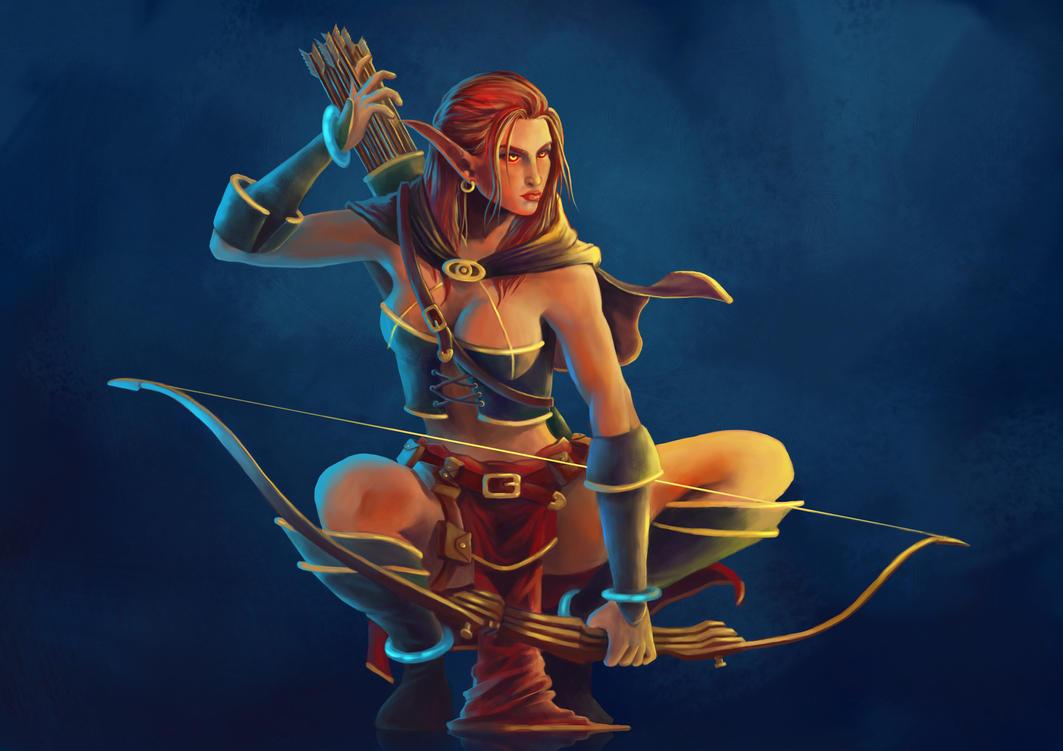 Redhead elven archer porn photo